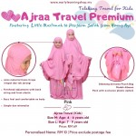 Telekung Ajraa Travel Kids - Pink