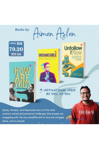 Combo Aiman Azlan : 3 Books (How Are You?, Unshakeable & Unfollow The Flow)