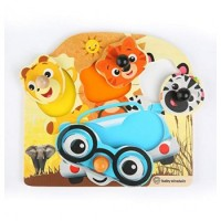 Baby Einstein Friendly Safari Faces Wooden Puzzle
