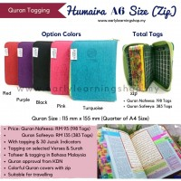 Al Quran Tagging Safeeya Humaira A6 Size With Zip