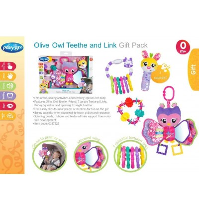 *Olive Owl Teethe And Link Gift Pack*